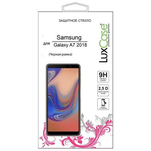 Защитное стекло LuxCase 2.5D FG для Samsung Galaxy A7 2018 черный