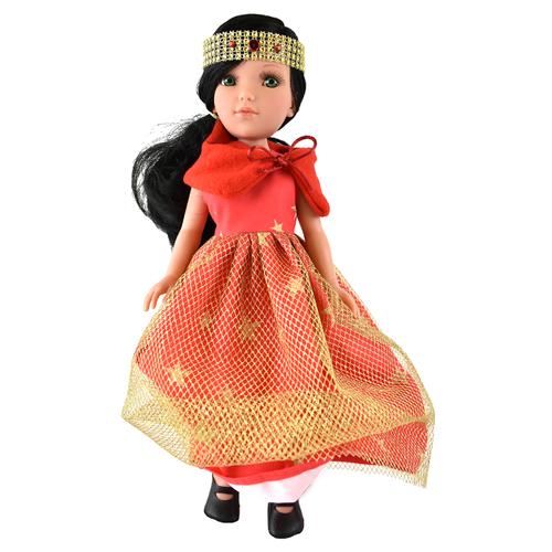 Кукла Vidal Rojas Мари черноволосая в длинном красном платье (в подарочной коробке), 41 см, 4511