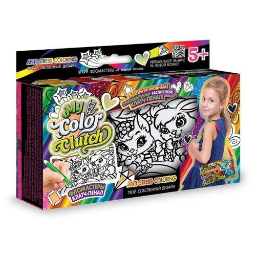 цена на Danko Toys Пенал-раскраска My Color Clutch Зайка и белочка (CCL-02-06)