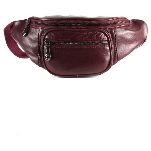 Сумка поясная Meyninger, натуральная кожа, бордовый сумка поясная dimanche натуральная кожа металлик