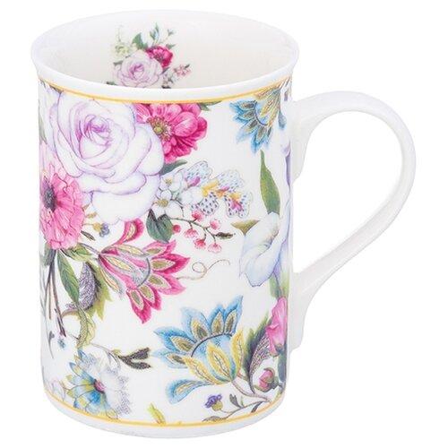 Elan gallery Кружка Цветочный рай 300 мл белый mug elan gallery royal 300 ml