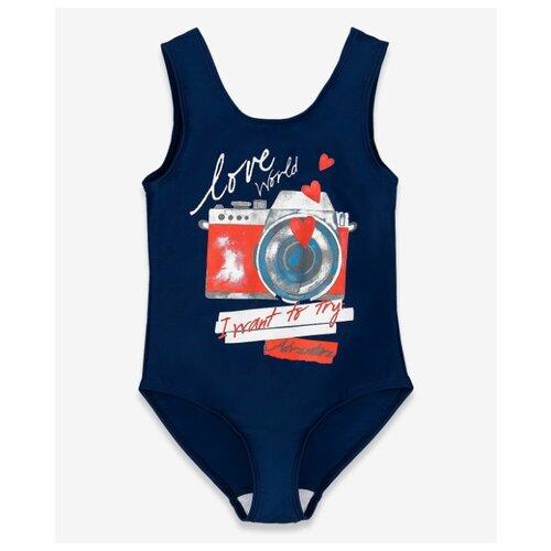 Купить Купальник Button Blue размер 98-104, синий, Белье и купальники