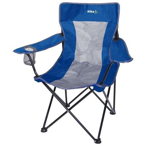 Кресло Nika Премиум 6 синий/серый
