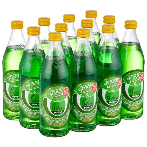 Газированный напиток Старые добрые традиции Тархун, 0.5 л, 12 шт.
