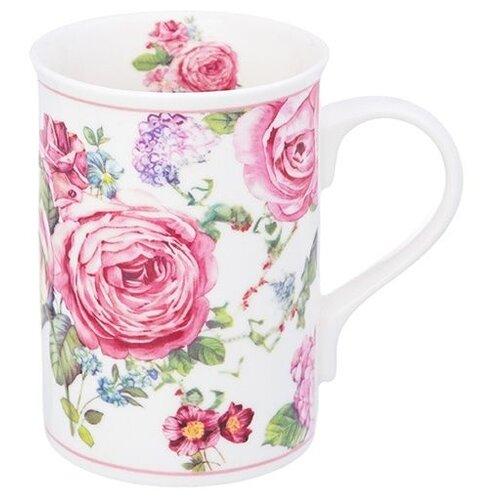 Elan gallery Кружка Цветущая роза 300 мл белый