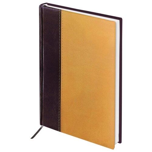 Ежедневник BRAUBERG Prestige недатированный, искусственная кожа, А5, 160 листов, горчично-коричневый