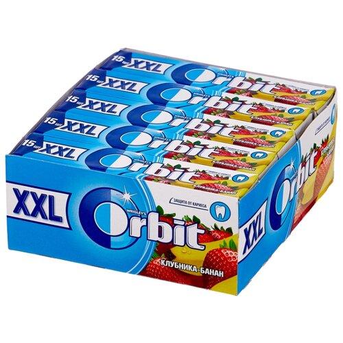Жевательная резинка Orbit XXL Клубника-банан, без сахара, 20 шт. х 20,4 г