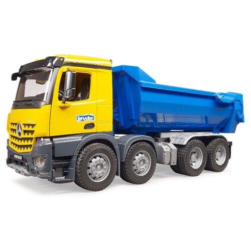 Купить Грузовик Bruder Mercedes-Benz (03-623) 1:16 55 см желтый/синий, Машинки и техника
