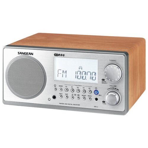 Радиобудильник Sangean WR-2 орех