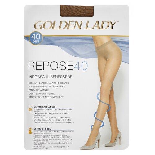Колготки Golden Lady Repose 40 den, размер 5-XL, melon (бежевый) колготки golden lady repose 40 den размер 5 xl natural бежевый