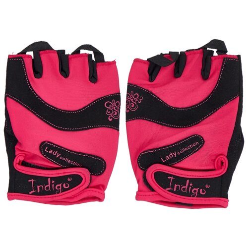 Перчатки Indigo SB-16-1729 розово-черный M