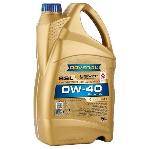 Моторное масло Ravenol Super Synthetik Öl SSL SAE 0W-40 5 л моторное масло ravenol super synthetic hydrocrack ssh sae 0w 30 4 л