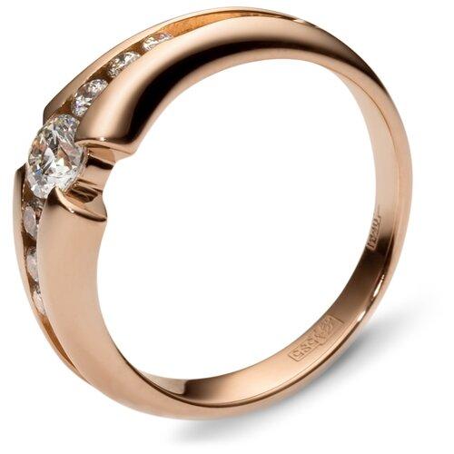 Эстет Кольцо с 7 бриллиантами из красного золота 01К615533, размер 17 фото