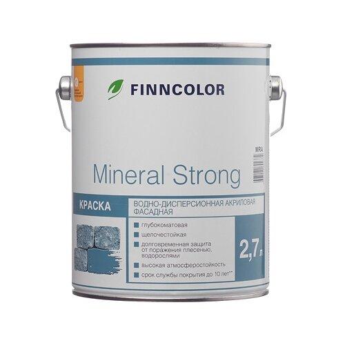 Краска акриловая FINNCOLOR Mineral Strong матовая белый 2.7 л 1 (A/BW)