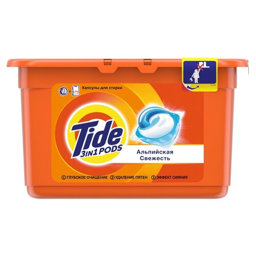 Капсулы Tide Альпийская свежесть, контейнер, 12 шт цена 2017