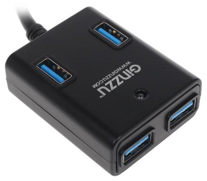 USB-концентратор Ginzzu GR-384UAB, разъемов: 4