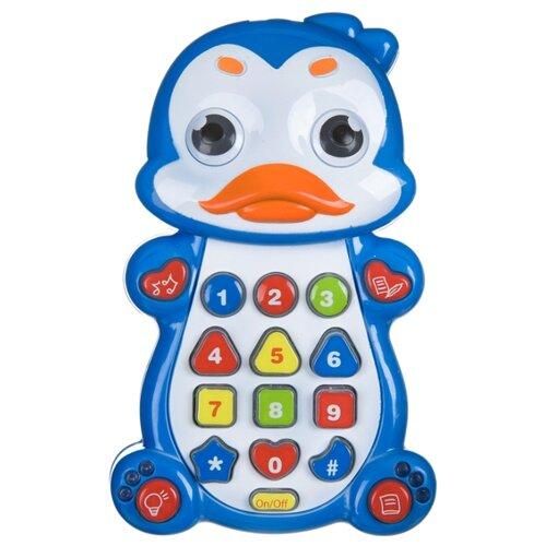 развивающая игрушка bondibon автомобиль корабль разноцветный Развивающая игрушка BONDIBON Умный телефон Пингвин ВВ4548 синий
