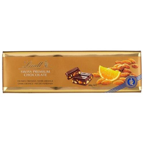 Шоколад Lindt Swiss premium темный с апельсином и миндалем, 300 г цена 2017