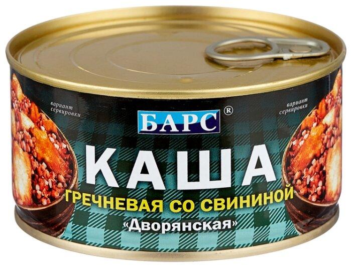 БАРС Каша гречневая со свининой Дворянская 325 г