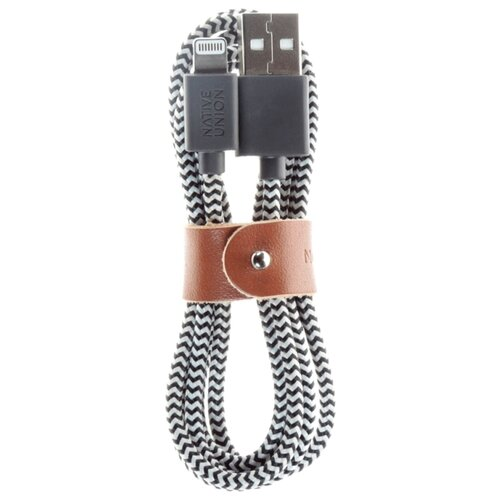 Кабель Native Union Belt L USB - Lightning MFI 1.2 м zebra кабель для ipod iphone ipad native union key key l mar