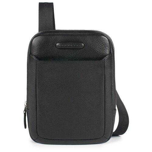 сумка планшет piquadro натуральная кожа табачный Сумка планшет PIQUADRO, натуральная кожа, черный