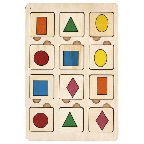 Фото - Настольная игра TAU TOY Найди пару. Фигуры деревянные игрушки tau toy головоломка никитина собери квадрат 7 28х28 см