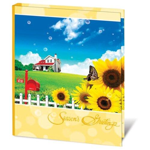 Фотоальбом BRAUBERG На природе (390665), 104 фото, для формата 10 х 15, желтый/синий