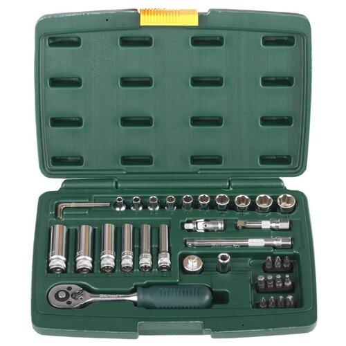 Набор инструментов Kraftool (37 предм.) 27881-H37 зеленый недорого