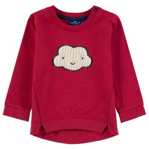 Свитшот Tom Tailor размер 80, красный блуза tom tailor 2033237 00 70 8210