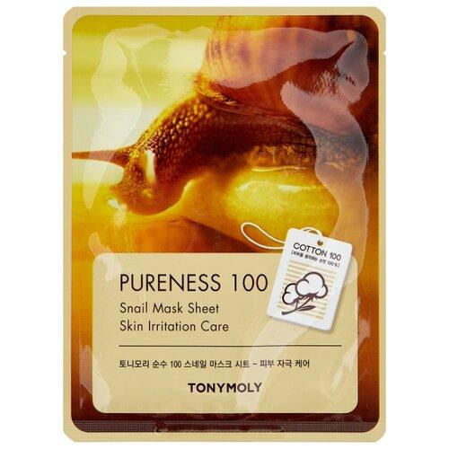 Фото - TONY MOLY тканевая маска Pureness 100 Snail для поврежденной кожи, 21 мл tony moly тканевая маска pureness 100 pearl 21 мл