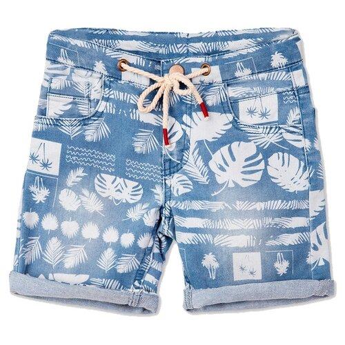 Шорты playToday размер 116, голубой/белый шорты playtoday размер 116