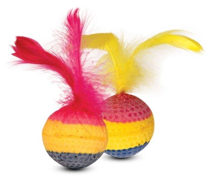 Мячик для кошек Triol радужный 60 шт (10T/Чм-12900/22131033)