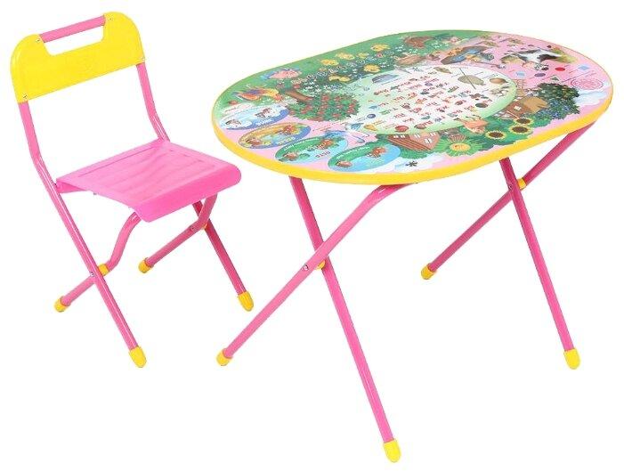 Комплект ДЭМИ стол + стул Овал Веселая ферма