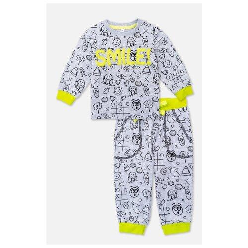 Купить Комплект одежды playToday размер 74, светло-серый/светло-зеленый, Комплекты
