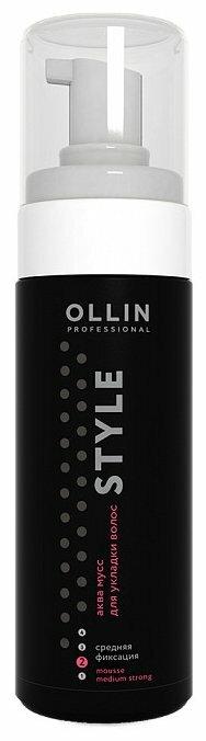OLLIN Professional аква мусс Style средней фиксации