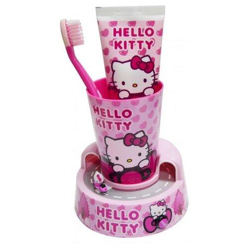 цена на Набор для чистки зубов Dr. Fresh Hello Kitty НК-13, 75 мл, розовый