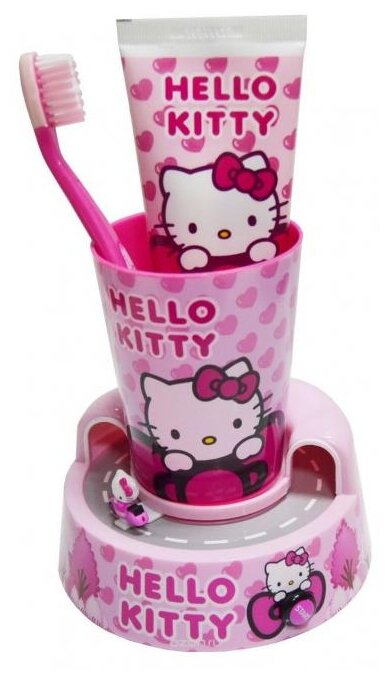 Набор щетка + паста + стакан Dr. Fresh Hello Kitty НК-13