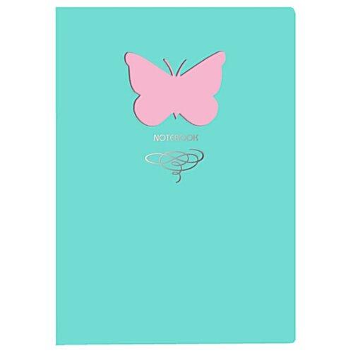 Купить Блокнот Канц-Эксмо Paper Art. Butterfly (мятный) А5, 80 листов (КЗБФЛ6802935), Блокноты