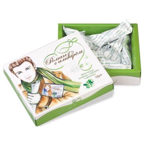 Набор конфет Лакомства для здоровья Роман с имбирем. Шоколадные конфеты с имбирем и фиником, 180 г