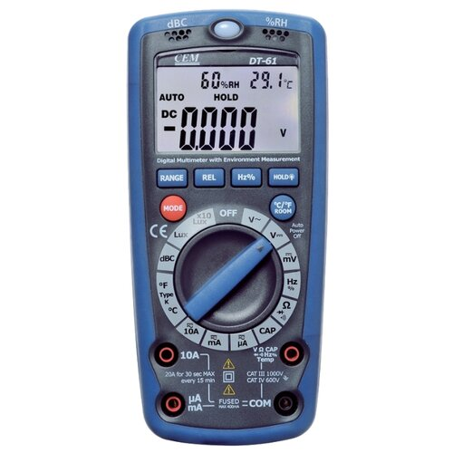 Мультиметр цифровой CEM DT-61 мультиметр cem dt 61