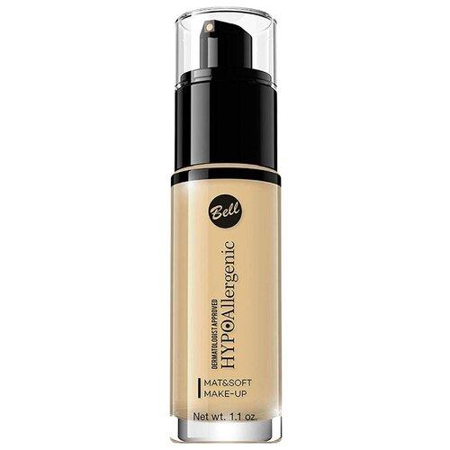 Купить Bell Тональный флюид HypoAllergenic Mat&Soft Make-Up, 30 г, оттенок: 03 sunny beige