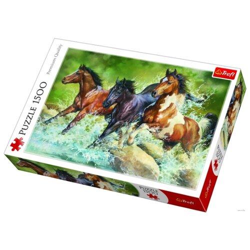 Купить Пазл Trefl Три дикие лошади (26148), 1500 дет., Пазлы