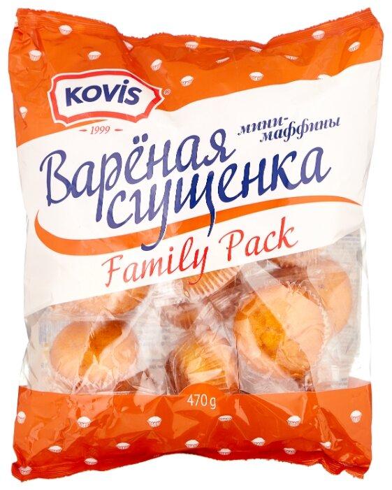 Мини-маффин KOVIS с начинкой вареная сгущенка (16 шт.)