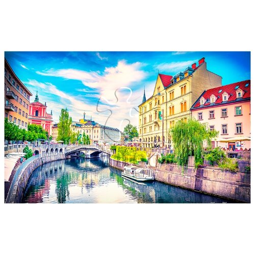 Купить Пазлы 1000 деталей Любляна Словения , Pintoo