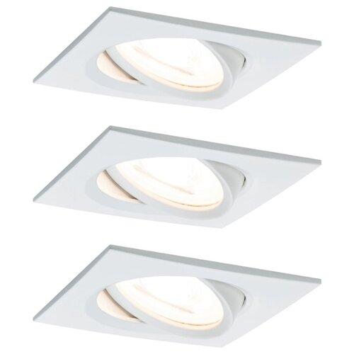 Светильник ввстраиваемый, комплект Nova LED 3x6,5 GU10 Ws mt 93436 светильник spotlight teja max1x10w gu10 ni sat mt