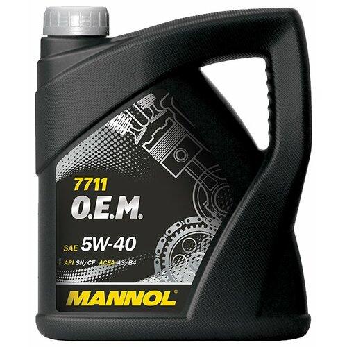 Синтетическое моторное масло Mannol 7711 O.E.M. for Daewoo GM 5W-40, 4 л