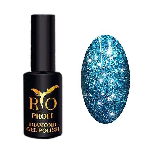 Купить Гель-лак для ногтей Rio Profi Diamond, 7 мл, 5 лазурнoе сияние