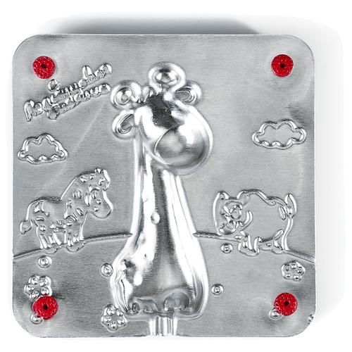 Форма для мармелада Леденцовая фабрика Жираф (0054) серебристый