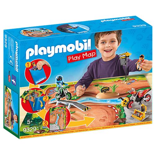 Набор с элементами конструктора Playmobil Action 9329 Мототрасса