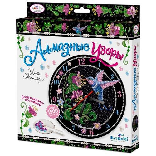 Origami Набор алмазной вышивки Алмазные узоры Часы Колибри с часовым механизмом (03211) алмазные узоры часы нежный аромат 20см арт 04736